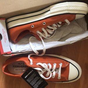 NWT Converse 70 Low Orange Suede Wmns 8